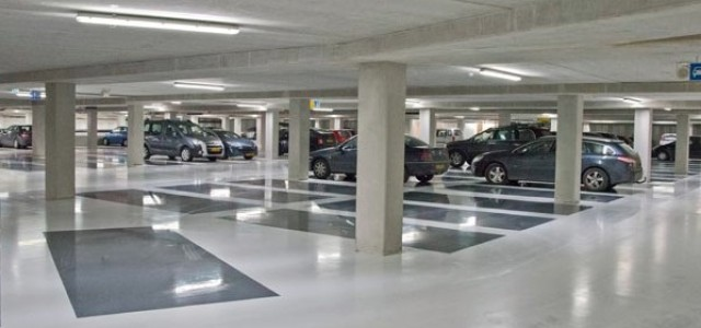 Roomtone: big parkinggarage in Enschede